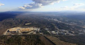 An aerial shot of the Iter site this year