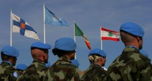 Irish soldiers in the Lebanon in 2007.  Photograph: Kate Geraghty