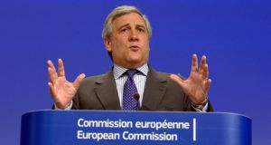 EU commissioner for enterprise and industry Antonio Tajani believes the EU can offer an excellent way for businesses to grow their links abroad. Photograph: Eric Vidal/Reuters