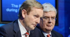 Taoiseach Enda Kenny and Tánaiste Eamon Gilmore:   Fine Gael and Labour Senators have signalled intentions to vote No in the referendum to abolish the Seanad. Photograph: Alan Betson