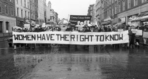 Image from Rose Comiskey's Against the Tide PhotoIreland Festival exhibition: Dublin protest