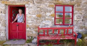 Artist Liz Doyle at the fisherman's cottage  on Cruit Island in  Donegal she shares with her husband, children's writer Malachy Doyle. Photographs: Richard Wayman