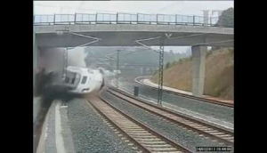 CCTV shows actual moment of Spain crash
