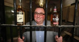 Peter Lavery at the launch of his £5 million pound investment to bring a distillery to Crumlin Road Jail in Belfast. Photograph: Bill Smyth