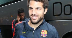 Manchester United have submitted two bids for Barcelona and Spain midfielder Cesc Fabregas. Photograph:  Andrew Milligan/PA Wire.