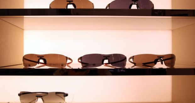 f6cf7934a61d Sunglasses stand on display inside a Tag Heuer store
