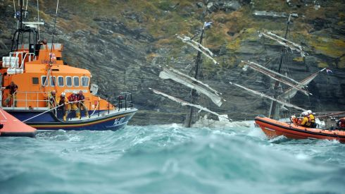Irish and Dutch authorities have initiated an investigation into the grounding which occurred in a 4m swell and force four to five southerly winds. Photograph Michael Mac Sweeney/Provision
