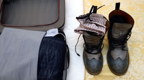 5. Stow phone chargers in shoes. Photograph: Brenda Fitzsimons