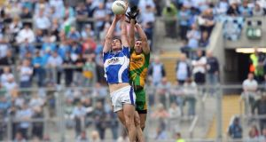 Brendan Quigley, who is now playing for Leitrim in New York, in action for his native Laois against Donegal at Croke Park. Photograph: Ryan Byrne/Inpho