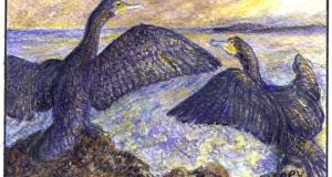 On the move: cormorants are heading inland. Illustration: Michael Viney