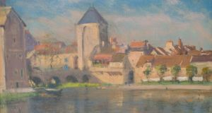 'View of a French Village' by Armenian-French painter Arsène Chabanian