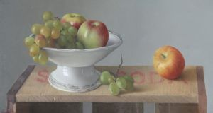 'Harvest Fruit' by Patrick Hennessy (estimate €3,800-€4,500) at Dolan's Irish Art House in Clifden, Co Galway