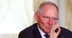 "German finance minister Wolfgang Schäuble warned earlier this month that that the EU's single resolution mechanism  proposals were ""built on shaky foundations"". Photograph: Eric Luke"