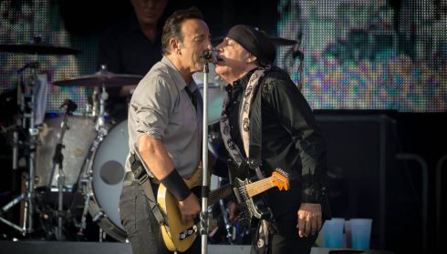 Bruce Springsteen and Steven Van Zandt pictured at the Wrecking Ball concert in Nowlan Park Kilkenny. Photo : Dylan Vaughan
