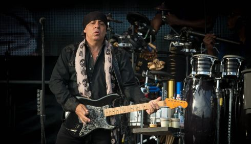Steven Van Zandt pictured at the Wrecking Ball concert in Nowlan Park Kilkenny. Photo : Dylan Vaughan