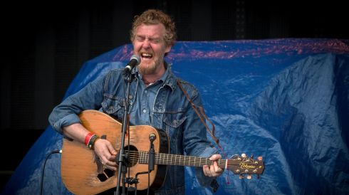 Pictured at the Wrecking Ball Weekender at Nowlan Park Kilkenny was Glen Hansard. Photo : Dylan Vaughan.