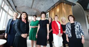 "Pamela Jeffrey (centre), founder of the Women's Executive Network, with some of the recent award-winners in the Ireland's Most Powerful Women awards announced last month by the network and HSBC Ireland. ""As a nation, we need to change our attitude towards women in business and take radical steps to encourage and support start-ups. We need to break down the barriers to success."" Photograph: Alan Betson"