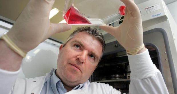 Professor Paul Moynagh, who led the research team, says the identification of the protein Pellino3 may protect against the development of the incurable Crohn's disease. Photograph: Matt Kavanagh/The Irish Times