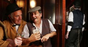 Jim Brennan and Shane Toolan in Hargadons Bar in Sligo town during the Yeats Vintage  Day event on Saturday, part of the Tread Softly festival. Photograph: James Connolly/PicSell8