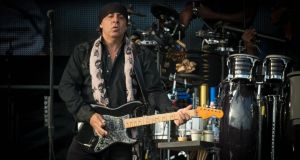 E Street Band guitarist and Sopranos actor Steven Van Zandt  at  Nowlan Park, Kilkenny. Photograph: Dylan Vaughan.