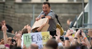 "Bruce Springsteen at Nowlan Park, Kilkenny. ""We feel like we have been adopted here in Ireland,"" the singer said. Photograph:  Dylan Vaughan."