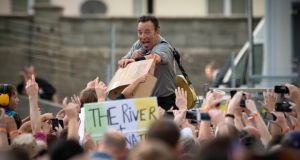 Pictured at the Wrecking Ball Weekender at Nowlan Park Kilkenny was Bruce Springsteen. Picture Dylan Vaughan.