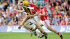 Cork's William Egan tackles Colin Fennelly of Kilkenny at Semple Stadium on Sunday. Photograph: Inpho