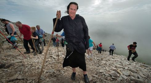 Winnie McDonnagh from Tottenham, London, during her pilgrimage to Croagh Patrick.  Photo: Michael McLaughlin