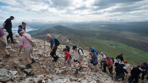 Pilgrims make their way up Croagh Patrick for the annual pilgrimage. Photo: Michael McLaughlin