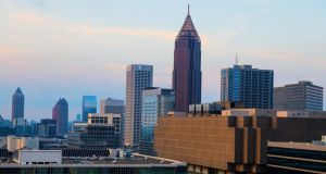 "Downtown Atlanta: the booming city ""looks just like Detroit gone bust: both are places where the American dream seems to be dying, where the children of the poor have great difficulty climbing the economic ladder"". Photograph: Chris Aluka Berry/Reuters"