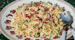 Mixed veg coleslaw with cashew mayonnaise. Photograph: Brenda Fitzsimons