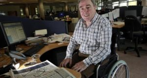 RTÉ broadcaster Colm Murray who died today. Photograph: Brenda Fitzsimons/The Irish Times