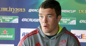 Peter O'Mahony: 'I'm just delighted with this opportunity now. It is very special' Photograph: Morgan Treacy/Inpho