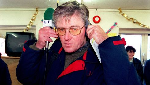 Pat Kenny broadcasting his show live from Fatima Mansions in Dublin. He has been presenting his RTE Radio show Today with Pat Kenny since the 1970s. Photograph: Deavid Sleator/The Irish Times