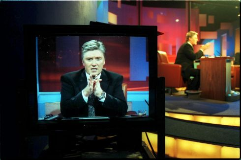 Pat Kenny hosting  RTE's Late Late Show. Pic:Alan Betson   99-12-129 ARCHIVE PICS - PAT KENNY LEAVES RTE 31/07/2013...