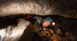 Kevin Courtney tackles his fear of confined spaces by going caving at the Pollnagollum Cave with the Corralea Activity Centre, Belcoo, Co Fermanagh. Photograph: James Connolly