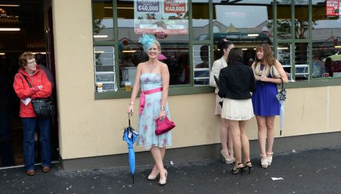Maria Casey from Kerry at the Galway Races this week. Photograph: Brenda Fitzsimons/The Irish Times