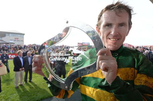 Jockey AP McCoy after winning the Galway Plate on a JP McManus horse Carlingford Lough. Photograph: Brenda Fitzsimons/The Irish Times