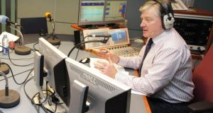Prepare for lift-off: Pat Kenny in studio at RTÉ. Photograph: Niall Carson/PA Wire