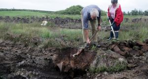 Many turf-cutters have now stopped cutting, or relocated their cutting to an unprotected bog. Photograph: Eric Luke