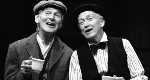 Des Keogh and Vincent Dowling on the stage of the Irish Rep