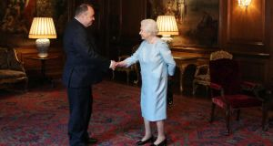 Monarch of the glens: SNP leader Alex Salmond with Queen Elizabeth last month; he says she would remain head of state after a Yes vote. Photograph: David Cheskin/WPA pool/Getty Images
