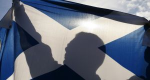 X marks the Scot: campaigning is well under way for next year's referendum. Photograph: Mike Wilkinson/Bloomberg