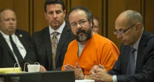Ariel Castro pleads to Judge Michael Russo during his sentencing  in Cleveland, Ohio, yesterday. Photograph: Angelo Merendino/Getty Images