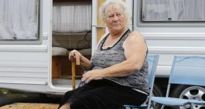 Inadequate accommodation: Mary McCarthy outside her caravan  at Bawney's Bridge  halting site  in Limerick. Photograph: Liam Burke/Press 22