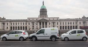 GoCar: city dwellers  can now avail of a pool of cars parked around the capital, paying for them by the hour. Dublin City Council's 30,000 pay-and-display car parking spaces can be used by car clubs for the first time.  Photograph: Conor McCabe
