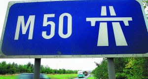 The M50, which has seen a 10 per cent rise in traffic volumes, is excluded, with the East-Link, from one-month toll holiday for heavy goods vehicles