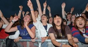 Fans enjoying Blur at Imma last evening..Photograph: Cyril Byrne / The Irish Times