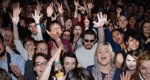 Fans enjoying Blurat Imma  last evening..Photograph: Cyril Byrne / The Irish Times
