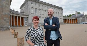 Jo Mangan and Tom Swift, organisers of the Big House festival which takes place this weekend at Castletown House, Celbridge. Photograph: Eric Luke